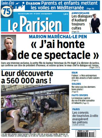 Le Parisien Du Mercredi 29 Juillet 2015