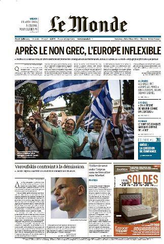 Le Monde du Mardi 7 Juillet 2015