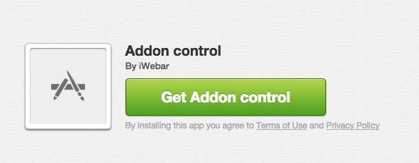 ควบคุม addon