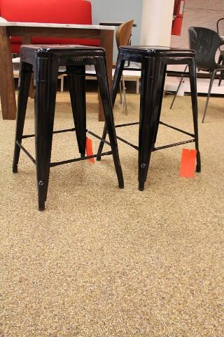 Tolix marais counter stool black set of 2 modern dwr design within reach ebay - Tolix marais counter stool ...