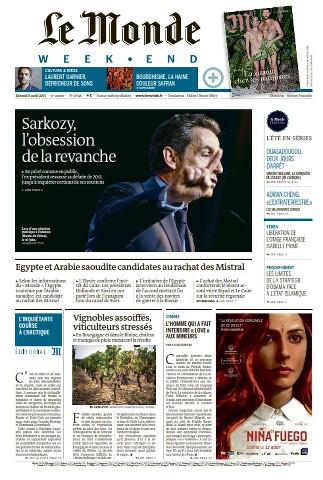 Le Monde Weekend et 2 Suppléments du Samedi 8 Août 2015