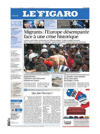 Le Figaro Du Mardi 18 Août 2015