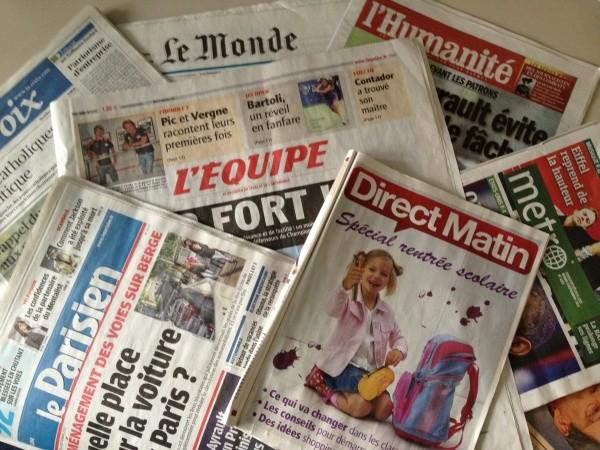 Les Journaux Du Mercredi 12 aout 2015