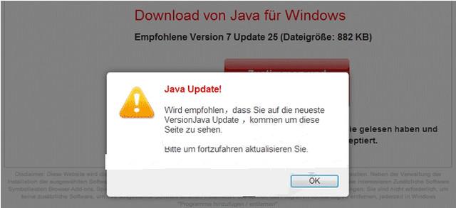 UpdatesJava.com emergente
