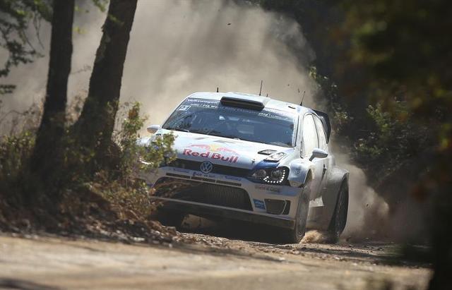 Rally Mexico winner Sebastien Ogier.