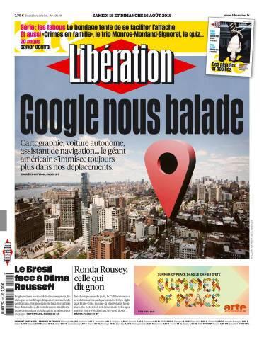 Libération du samedi 15 aout 2015