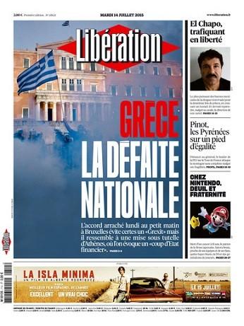Liberation Du Mardi 14 Juillet 2015