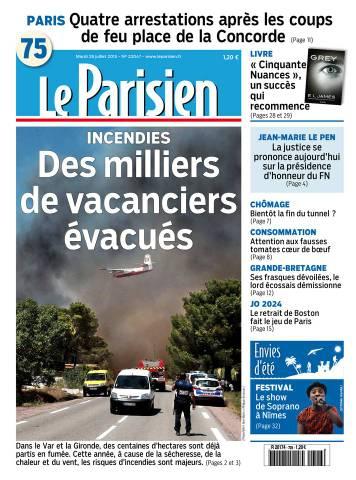 Le Parisien + Journal de Paris du Mardi 28 Juillet 2015