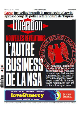 Liberation du Mardi 30 Juin 2015
