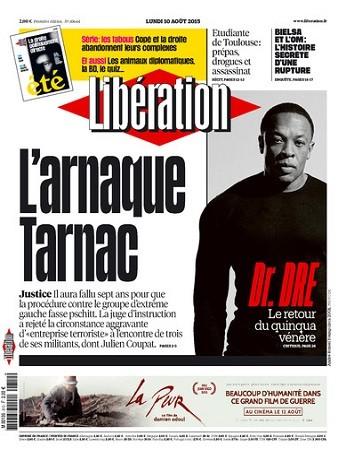 Liberation Du Lundi 10 Aout 2015