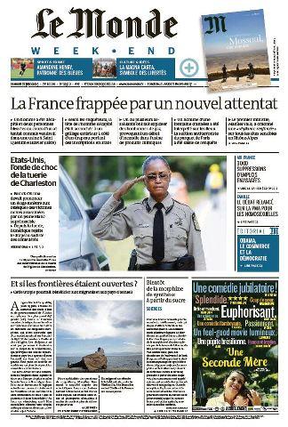 Le Monde Weekend et 4 Suppléments du Samedi 27 Juin 2015