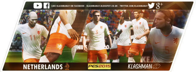 Download Netherlands Away Kit PES 2015