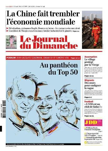 Le Journal du Dimanche du 16 Août 2015