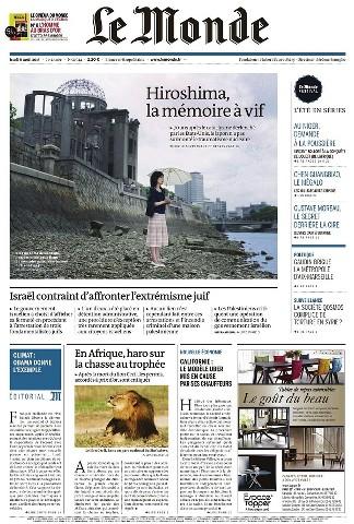 Le Monde du Jeudi 6 Août 2015