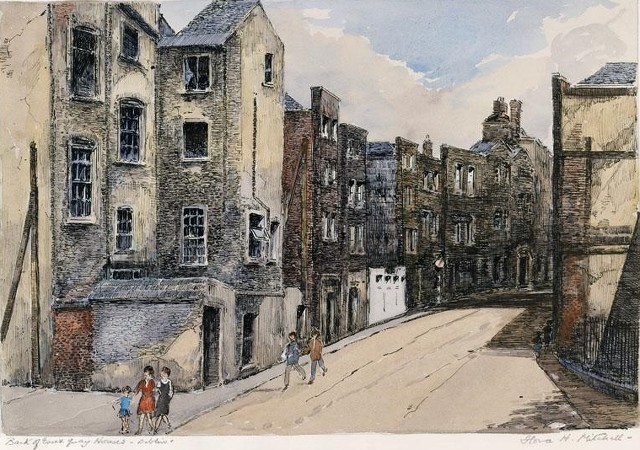Flora Mitchell's depiction of Exchange Street