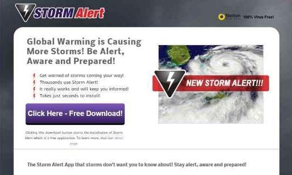 โฆษณาโดยการแจ้งเตือนพายุ