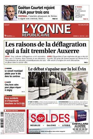 L'Yonne Républicaine - 26 Juin 2015
