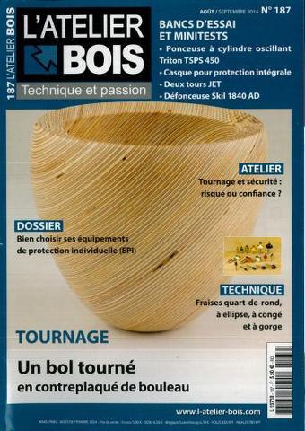 L'Atelier Bois 187 - Août/Septembre 2014