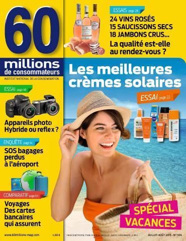 60 Millions de Consommateurs - Juillet-Août 2015