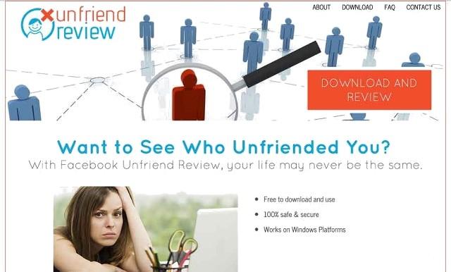 Przegląd reklam Unfriend