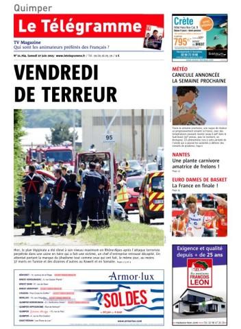 Le Télégramme - 27 Juin 2015