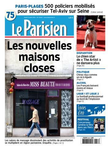 Le Parisien + Journal de Paris du Jeudi 13 Août 2015