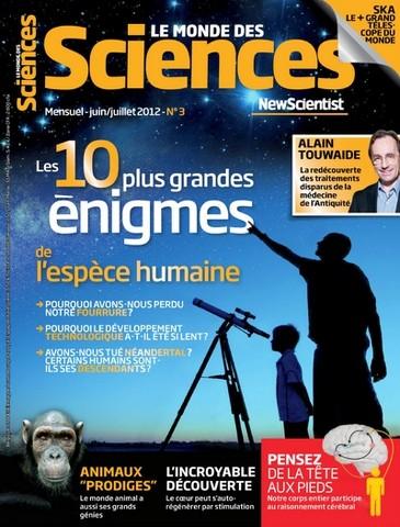 Le Monde des Sciences 3 - Les 10 plus grandes engimes de l'espése humaine