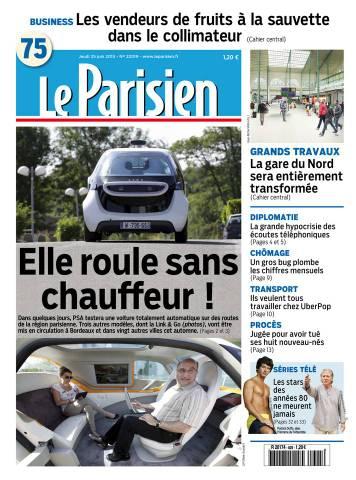 Le Parisien + Journal de Paris du jeudi 25 juin 2015