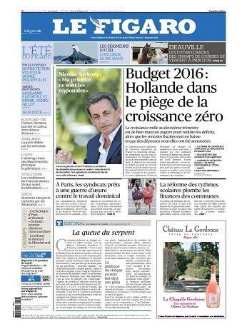 Le Figaro Du Mercredi 19 Août 2015