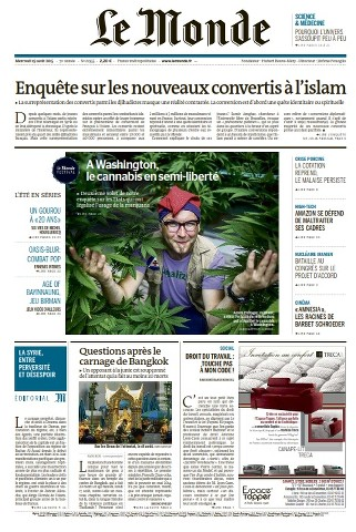 Le Monde du Mercredi 19 Août 2015