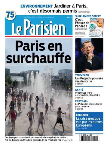 Le Parisien + Journal de Paris du Jeudi 2 Juillet 2015