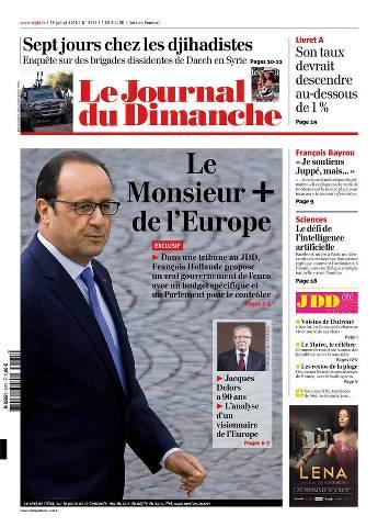 Le Journal du Dimanche 3575 Du 19 juillet 2015