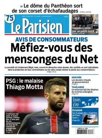 Le Parisien + Journal de Paris du Mardi 18 Août 2015