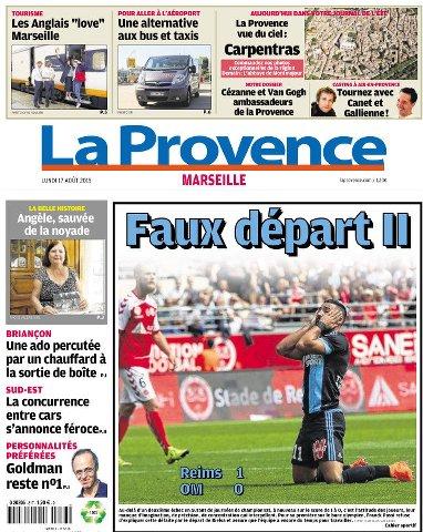 La Provence Marseille du lundi 17 aout 2015