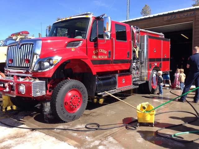 drying elk creek fire engine