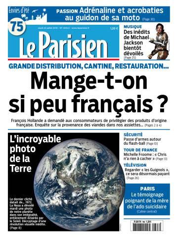 Le Parisien + Journal de Paris du Jeudi 23 Juillet 2015