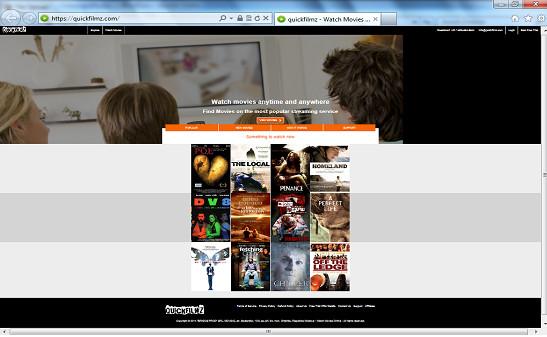 Pop-up advertenties op QuickFilmz
