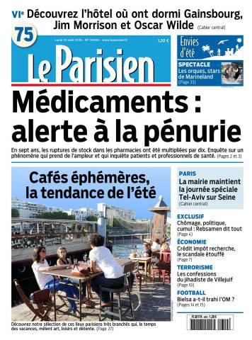 Le Parisien + Journal de Paris du Lundi 10 Août 2015