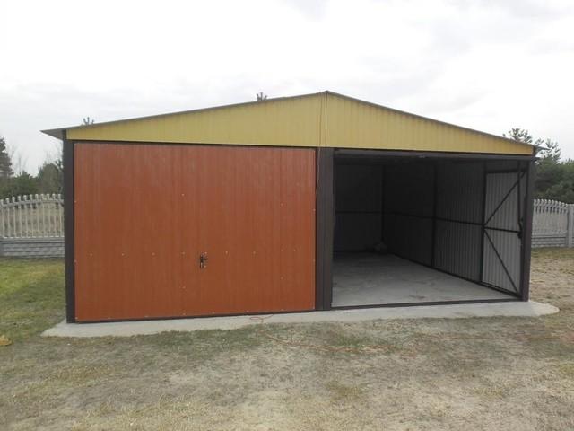 mehrzweck garage 4mx5m mit satteldach und schwingtoren blechgarage fertiggarage ebay. Black Bedroom Furniture Sets. Home Design Ideas