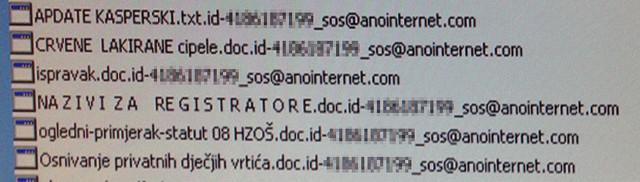 Sos@anointernet.com Ransom Virus