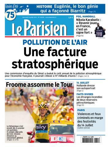 Le Parisien + Journal de Paris du Mercredi 15 Juillet 2015