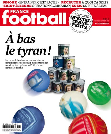 France Football 3613 du mercredi 22 juillet 2015