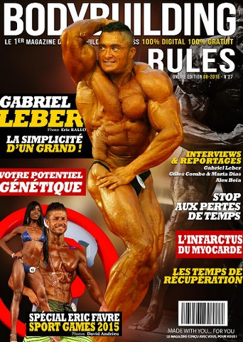 Bodybuilding Rules 27 - Août 2015