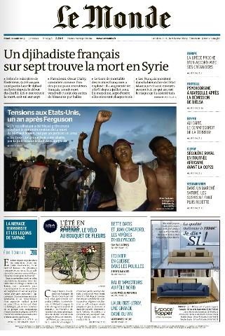 Le Monde du Mardi 11 Août 2015