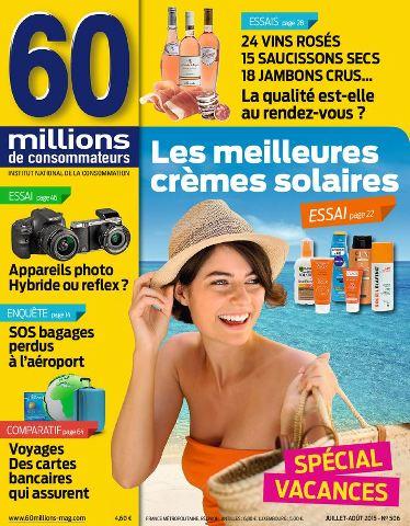60 Millions de Consommateurs 506 - Juillet-Aout 2015