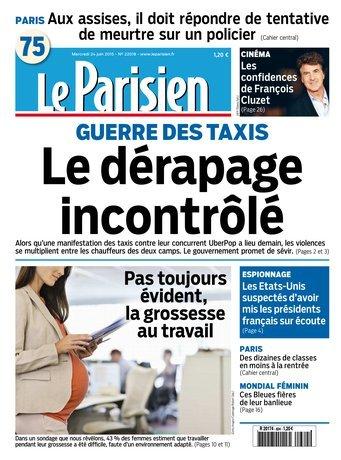 Le Parisien du Mercredi 24 Juin 2015