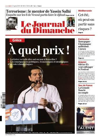 Le Journal du Dimanche 3573 - 5 juillet 2015