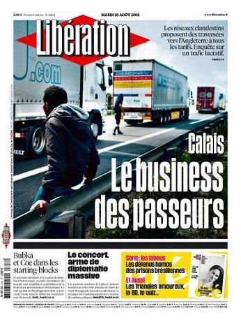 Liberation Du Mardi 18 Août 2015