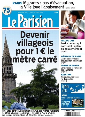 Le Parisien du Mardi 4 Août 2015
