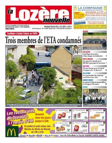 La Lozère Nouvelle - 26 Juin 2015